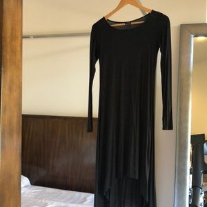 Ella Moss black jersey hi-lo dress size xs